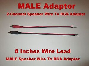 2 - Channel Speaker Wire To RCA Adapter Car Amp Receiver Powered ...