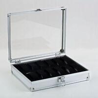 12 Slot Leather Jewelry Watch Display Case Box Storage Holder Organizer HL