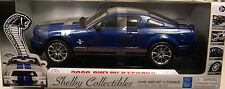 SHELBY 1:18 SCALE DIECAST METAL BLUE 2008 FORD SHELBY GT500KR MUSTANG