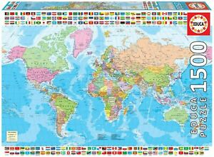 Educa-Map-of-the-World-with-Flags-1500-pc-Jigsaw-Puzzle-pl