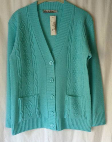 NEW LADIES ARGYLE PATTERN LONG SLEEVE KNITTED CARDIGAN WITH POCKETS*15 COLOURS*