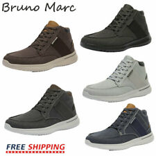 Yolkoma Mens Fashion Leather Block Carved Waxed Lace Up Street Sneakers Casual Walking Shoes Grey Blue Size 7