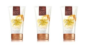 Bath-amp-Body-Works-Warm-Vanilla-Sugar-Creamy-Body-Wash-x3
