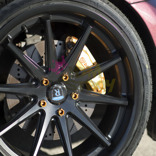 Neo Chrome 20 PCS M12X1.5 Lug Nuts Extended Tuner Aluminum Wheels Rims Cap WN02