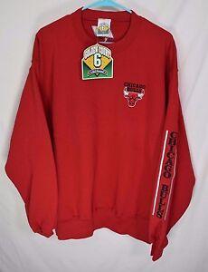 Men-039-s-NOS-Large-VTG-1996-GOLDEN-COURT-6-CHICAGO-BULLS-Basketball-Sweatshirt