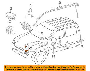 Details About Toyota Oem 05 12 Tacoma Airbag Air Bag Srs Front Impact Sensor 8917309270