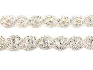 1-Yard-Beautiful-Bridal-Rhinestone-Belt-Bridal-Lace-For-Wedding-Dresses-Trim