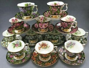 ROYAL-ALBERT-034-PROVINCIAL-FLOWERS-034-TEA-CUPS-amp-SAUCER