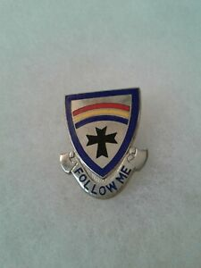 Authentic-US-Army-166th-Infantry-Regiment-Unit-DI-DUI-Insignia-Crest-E-23