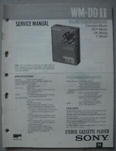 SONY-WM-DD-II-Service-Manual