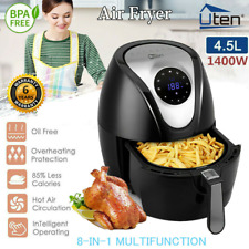 Air Fryer Low Fat XL Health 4.5L 1400W Cooker Oven Oil Free Food Frying Litre UK