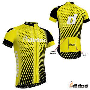 New Men s Team Cycling Half Sleeve Shirts Reflective Strip Jerseys ... 0326d7b17