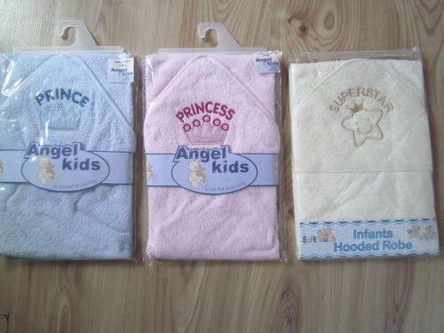 Uni blanc/beige/rose/bleu bébé bain eponge à capuche/capuche serviette/robe de chambre garçon fille