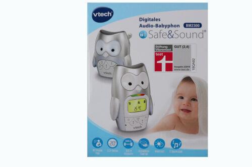 NOUVEAU * Vtech Numérique Audio Interphone Safe /& Sound bm2300 gris 636