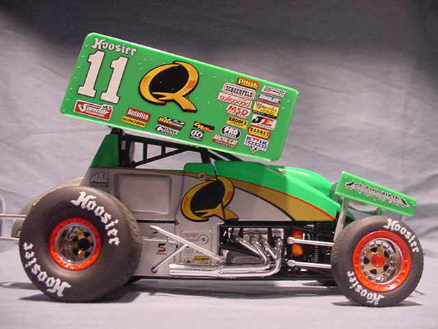 2007 steve kinser quaker state r r world of outlaws sprint car 1 25