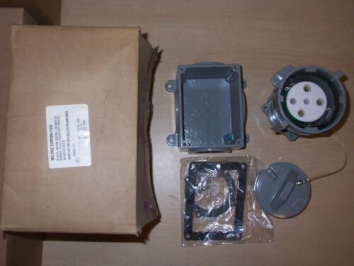 MELTRIC 89-60167-080-S DSM 60A AMP 3 PHASE  RECEPTACLE MISSING ADAPTER
