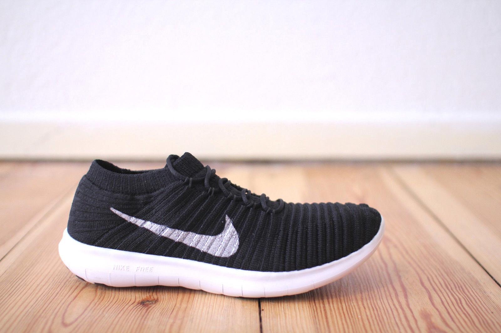 Nike Free RN Flyknit WMNS black white Gr. 38,39,40,41 NEU & OVP