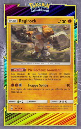 Regirock Carte Pokemon Neuve Française SL04:Invasion Carmin 53//111