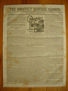 The Monthly Genesee Farmer newspaper, February, 1838. Silk Spinning