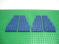 LEGO 6 x tecnica 3 foro obliquo ala pietra 1x6 NERO BLACK WING section 2744