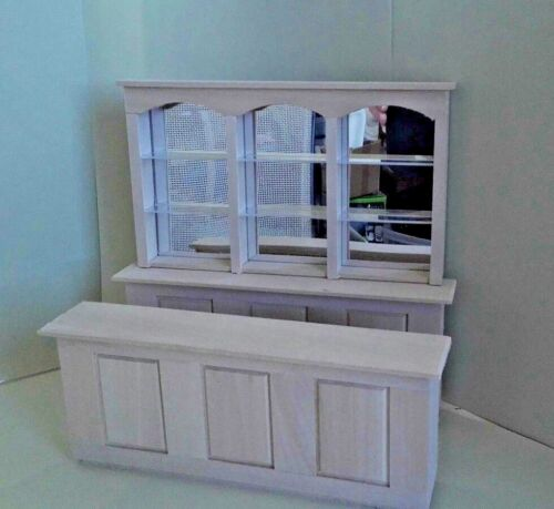 "Dollhouse Miniature 3 pc Bar Mirrored Back 8 1//2/"" long unfinished basswood 1:12"