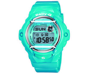 Casio-Baby-G-Women-039-s-43mm-Digital-World-BG169R-2B-Watch-Blue