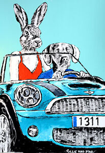 GILLIE-AND-MARC-Direct-from-artists-Authentic-Art-Print-039-Sun-039-039-Convertible-039