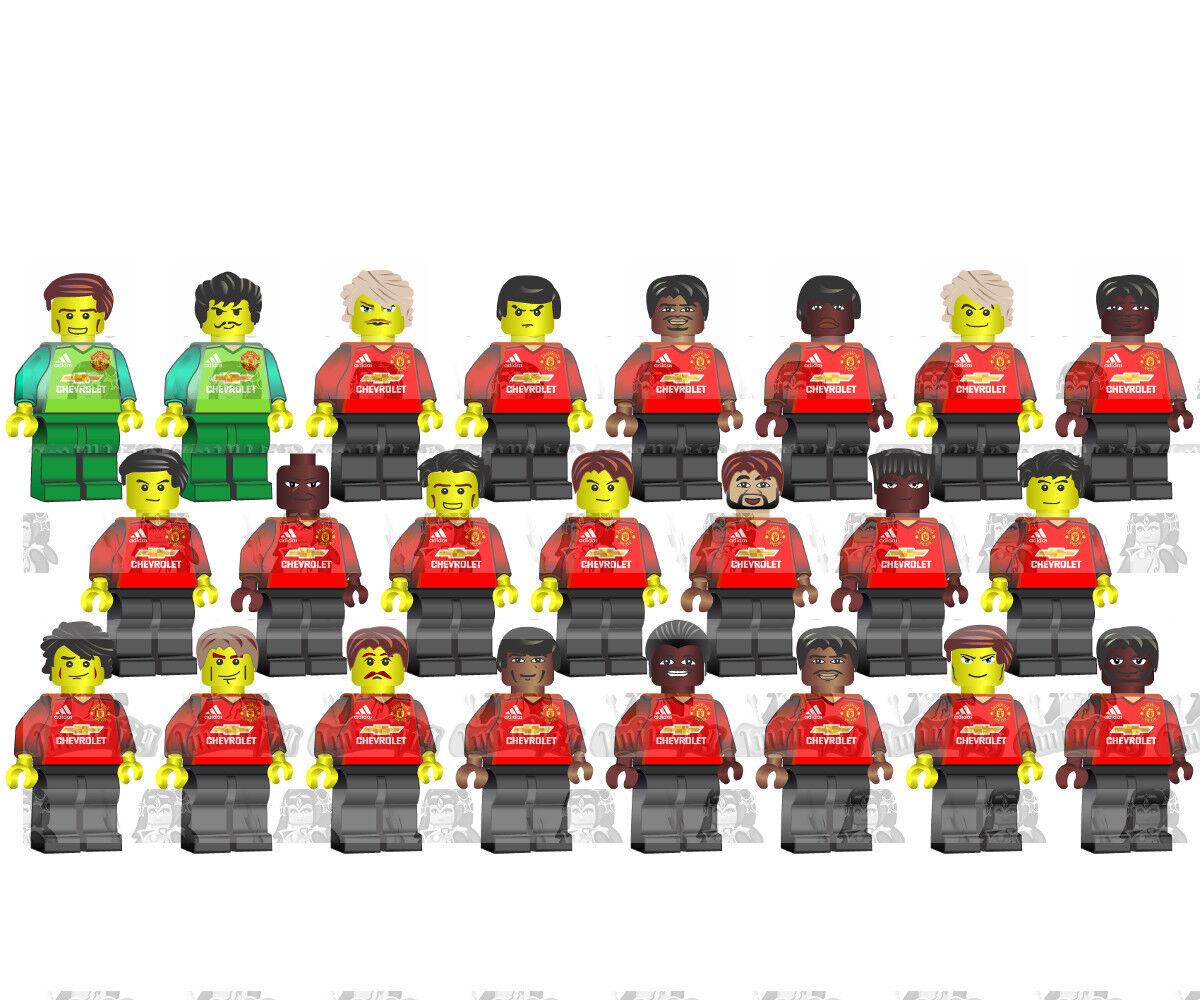 LEGO LEGO LEGO Manchester United Football Team 23 Players 18-19 Jersey Custom Minifigure 82fded