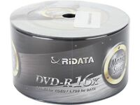 50-Pack RiDATA Magic Silver 4.7GB DVD-R DVD Spindle