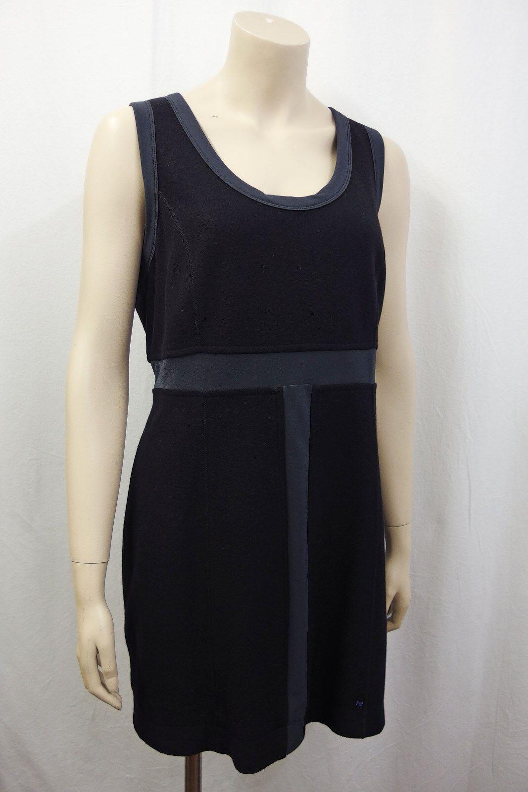 MARCCAIN MARC CAIN Stretch Kleid Gr.42 N6 leichter Bouclestoff Schwarz Grau