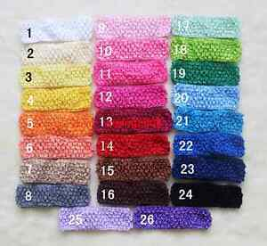 1-5-039-039-Lot-Baby-Women-Girl-Crochet-Elastic-Hair-Bands-Headband-26-Colors-U-PICK