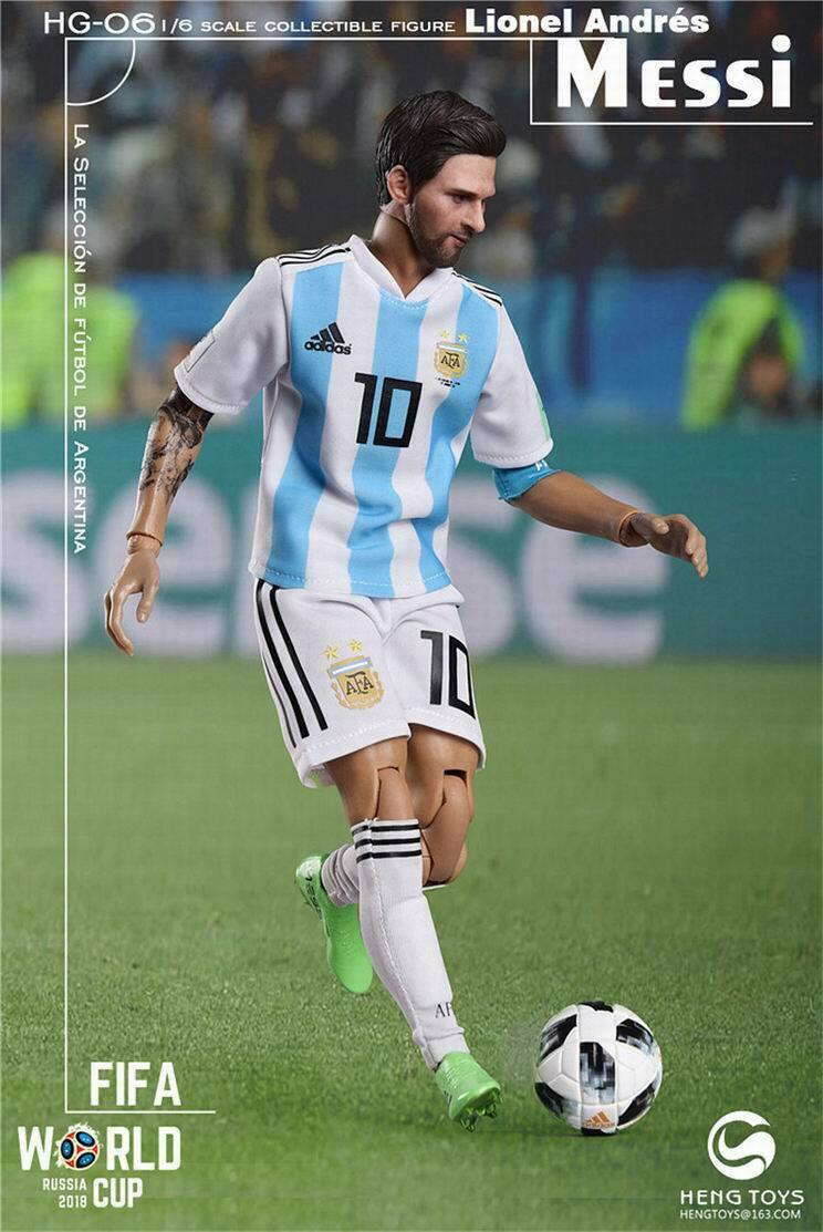 HENG giocattoli 1 6 HG-06 2018 World Cup Soccer  Player Messi Footbtutti cifra corpo giocattoli  outlet in vendita