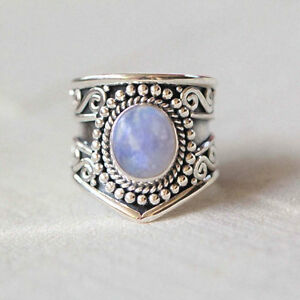 Rainbow-Moonstone-Ring-925-Solid-Sterling-Silver-Handmade-Jewelry-US-RBM-012