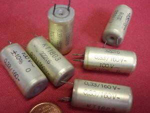 KONDENSATOR HOCHVOLT 330nF(0,33µF) 160V STYROFLEX D13x25mm 6x 25621