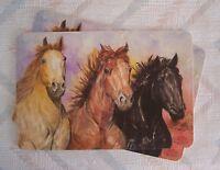 Horses Placemat Set Laminated Horses Pattern Kay Dee