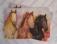 Horses Placemat Set Laminated Horses Pattern Kay Dee