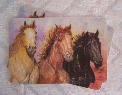 Horses Placemat Set Laminated New Horses Pattern Kay Dee