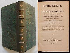 W-CODE-RURAL-ANALYSE-RAISONNEE-DES-LOIS-DECRETS-M-Biret-1824-Droit