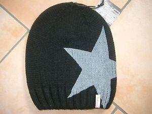 Damen-accessoires Grobstrick Mütze Freaky Heads Beanie Wintermütze Big Star Druck & Aufnäher Perfekte Verarbeitung m69