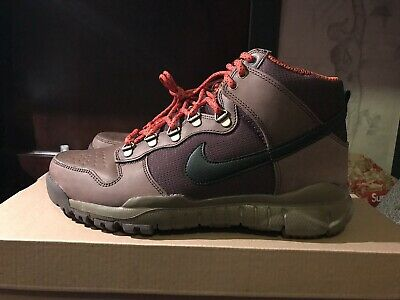 new style 672d6 c0d46 Nike Dunk high OMS hiking Trail Winter Shoe Boot Ds 9.5 Brown Orange Duck  SB | eBay