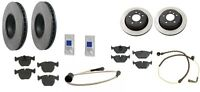 Bmw E39 540i 3/00-03 Full Brake Kit W/ Rotors Semi Metallic Pads Sensor Paste on sale