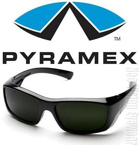 3c4300e78da Image is loading Pyramex-Emerge-IR5-Lenses-Welding-Wrap-Black-Super-