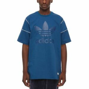 adidas-ORIGINALS-FREIZEIT-T-SHIRT-BLUE-TREFOIL-XS-S-M-L-XL-CREW-NECK-TOP-MEN-039-S