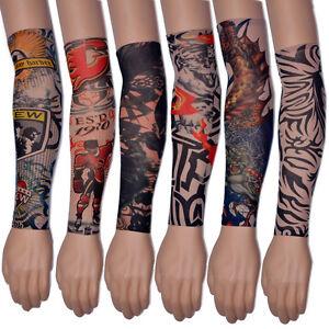 1-Pair-Temporary-Tattoo-Sleeves-Sleeves-Stretch-Elastic-Tattoo-Arm-Stockings