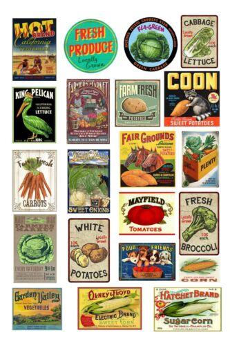 1:87 HO scale model farmer/'s market vegetable produce signs