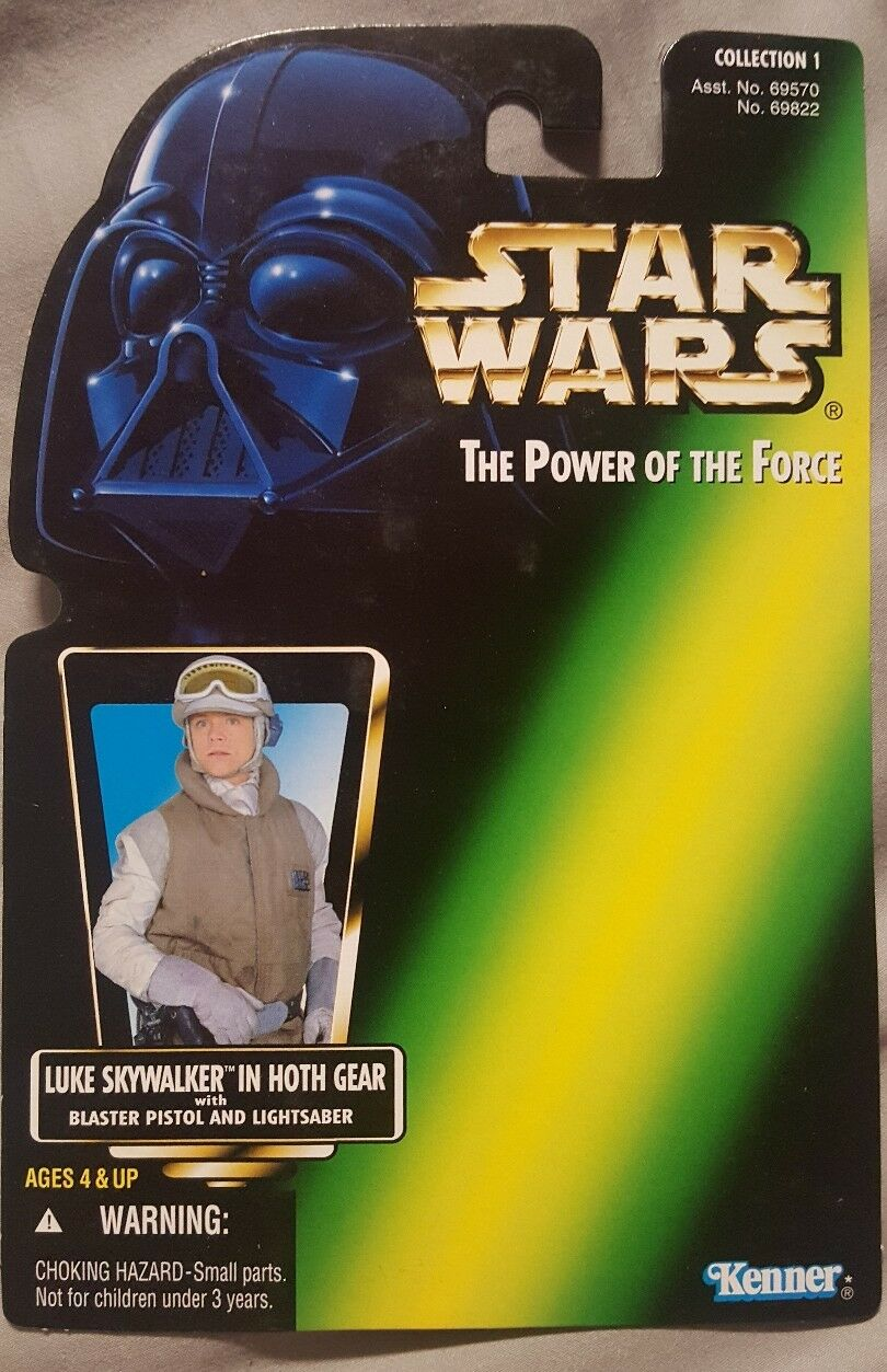 Kenner Star Wars The Power of the Force c1 Luke Skywalker in HothGear proof card
