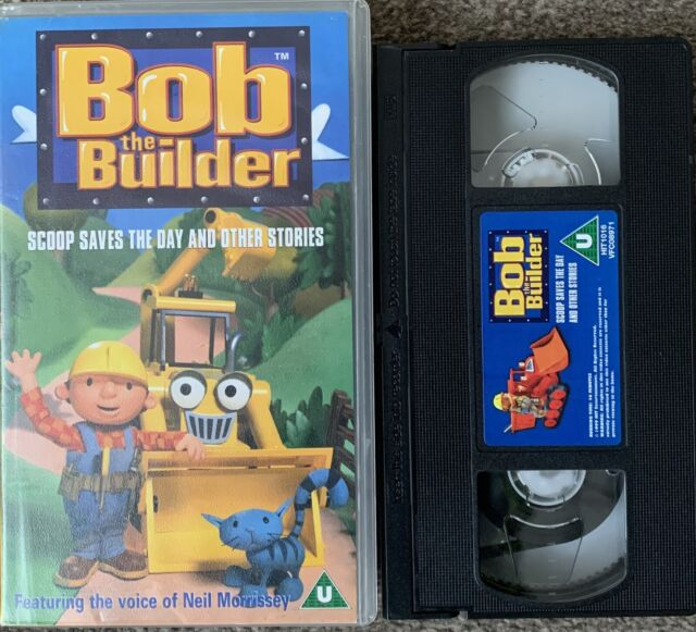 BOB THE BUILDER SCOOP SAVES THE DAY AND OTHER STORIES-VHS VIDEO SMALL BOX.