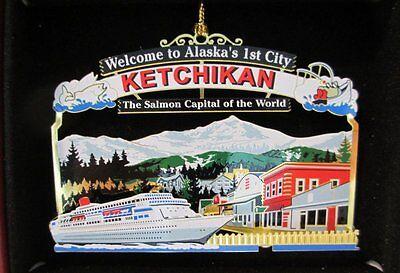 Ketchikan Alaska Brass Ornament