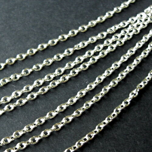 LEAD /& NICKEL FREE 5 METER SILVER PLATED CABLE CHAIN FINDING 3 x 2mm