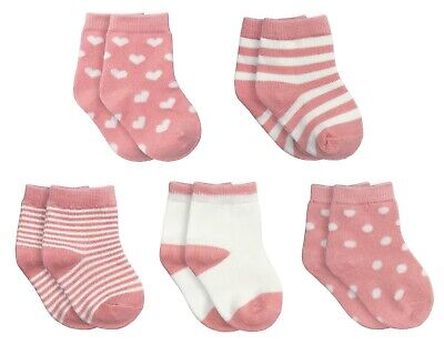 Little Dot NYC Baby Infant Toddler Girls Boys 5 Pack Soft Cotton Ankle Crew Sock